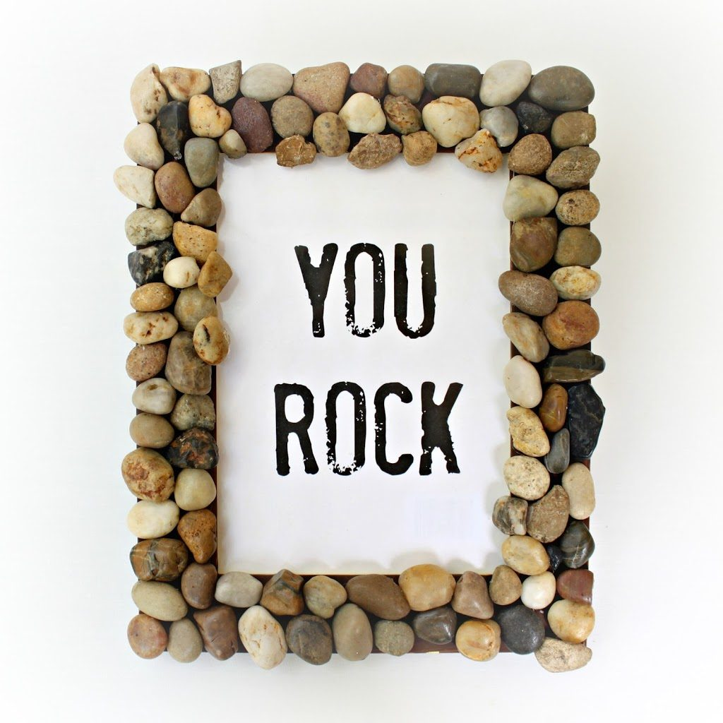 rock picture frame